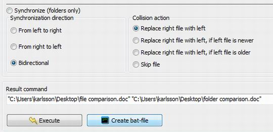 Compare Suite is integrated with command line and bat files